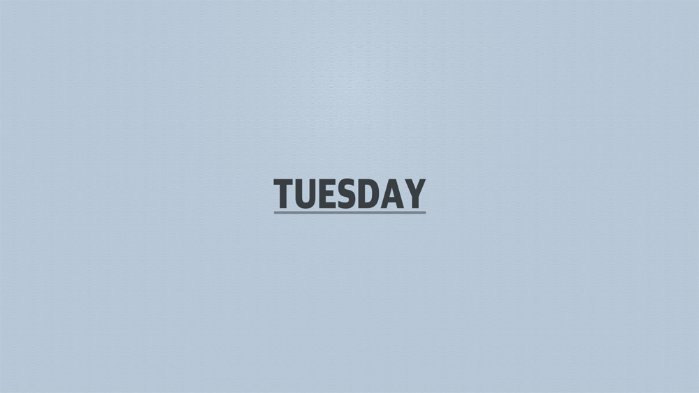 Days 2019 Title screen Tuesday