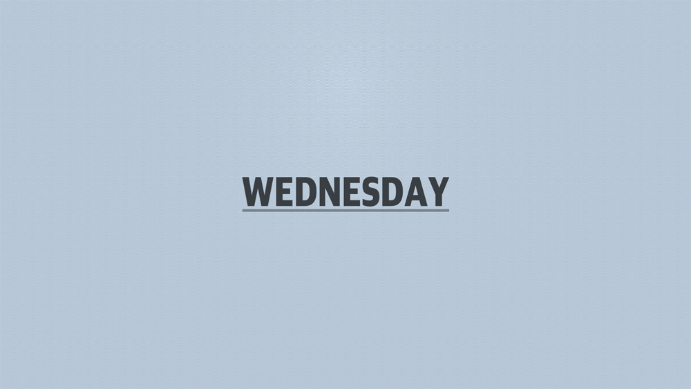 Days 2019 Title screen Wednesday